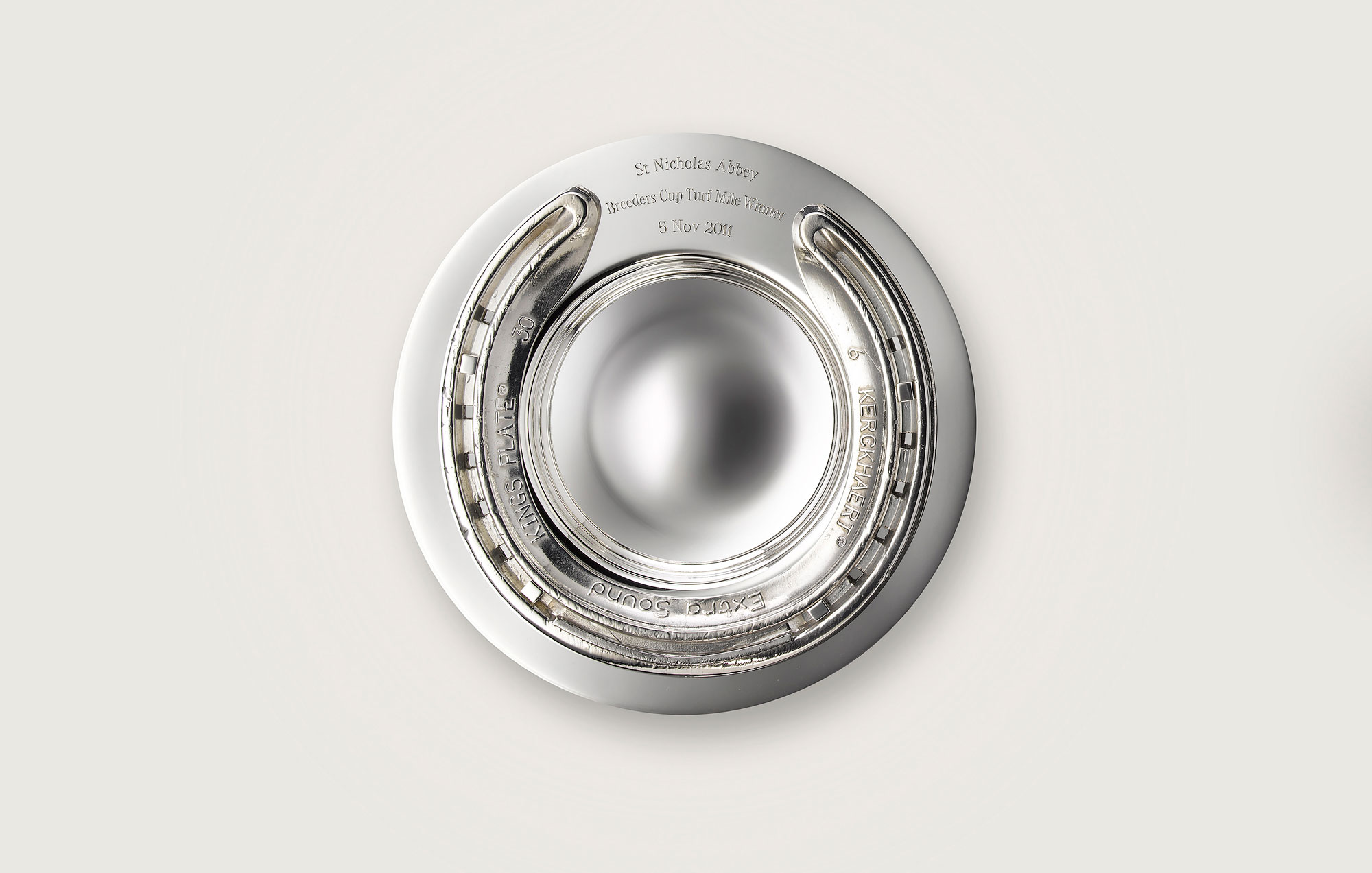 SILVER RACING PLATE