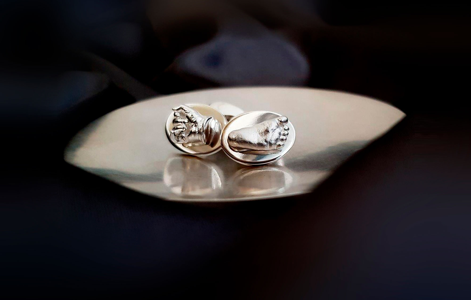 MINI HAND AND FOOT CUFFLINKS