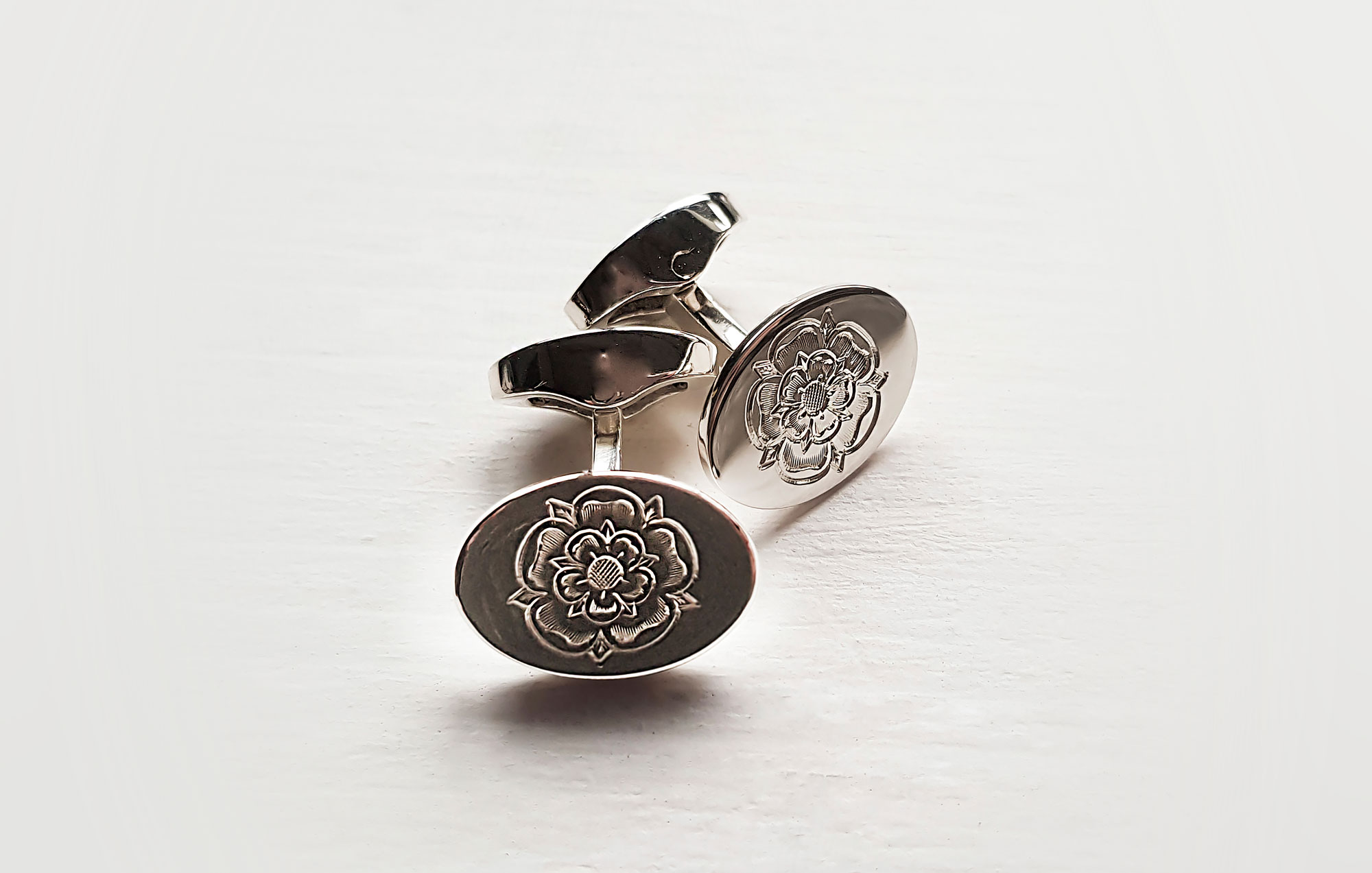 Yorkshire rose cufflinks